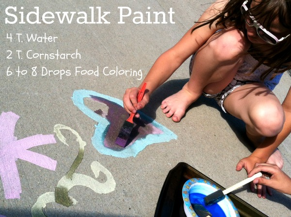 DIY Sidewalk Paint! Cheap, quick, easy - kids love it!