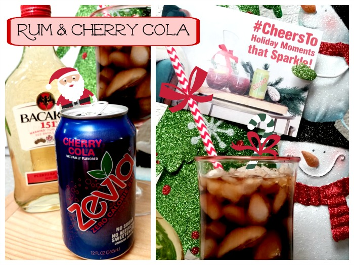 Rum & Cherry Cola Cocktail made with Zevia
