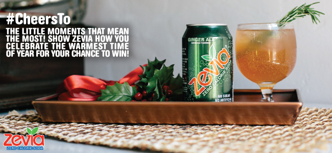 Zevia #Cheersto Holiday Moments that Sparkle