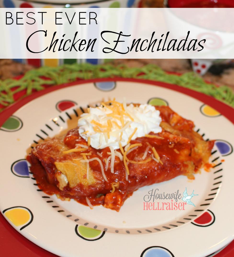 best ever chicken enchiladas
