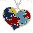 autism heart necklace