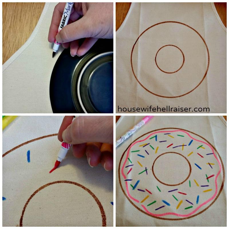 donut apron steps