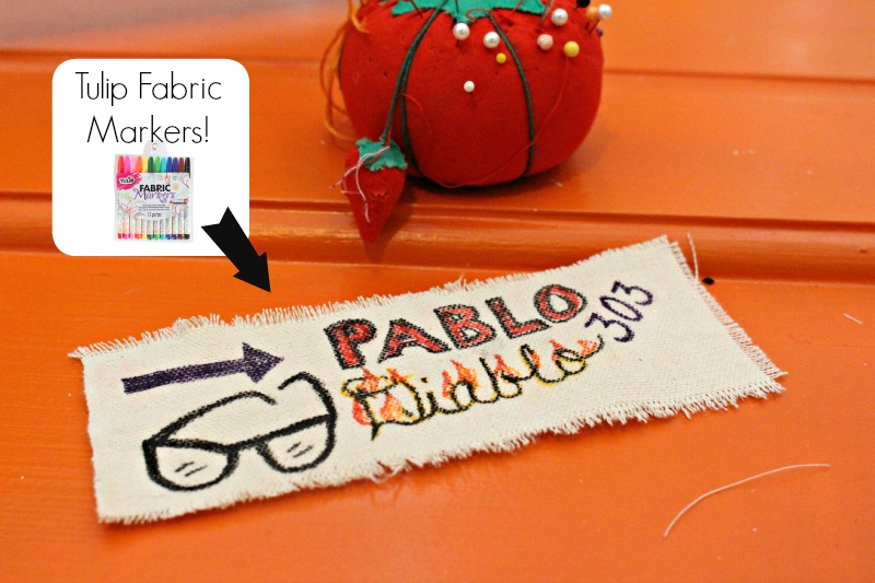 glasses case fabric markers