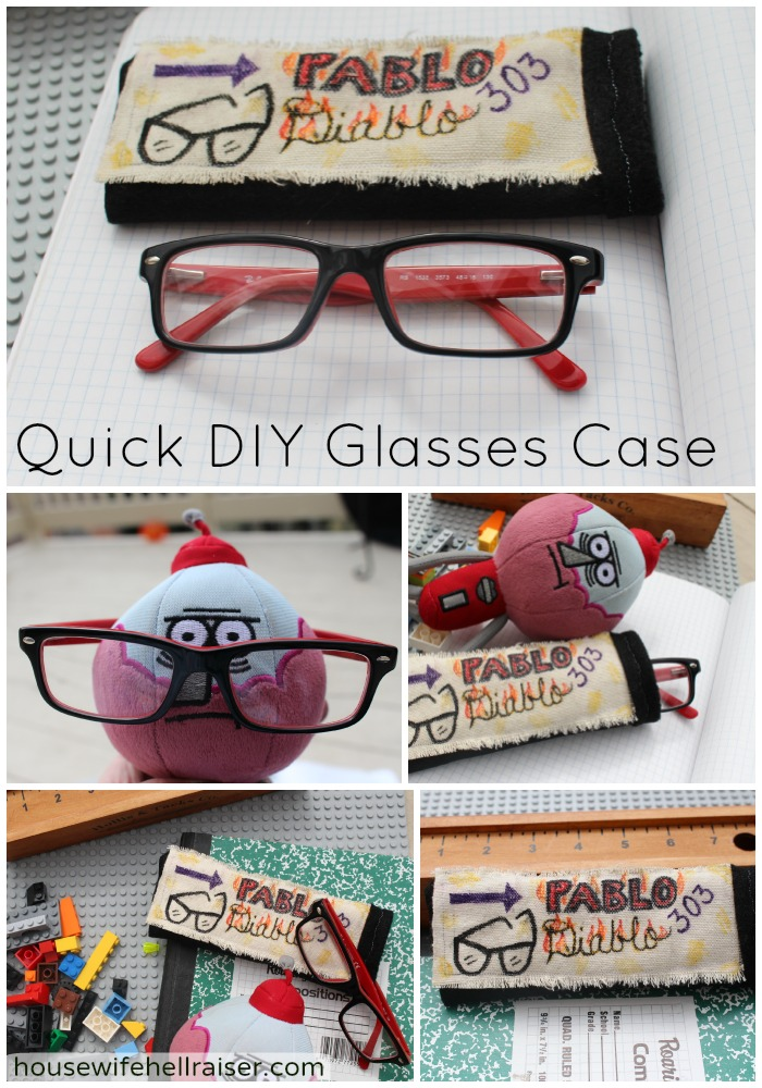 quick diy glasses case