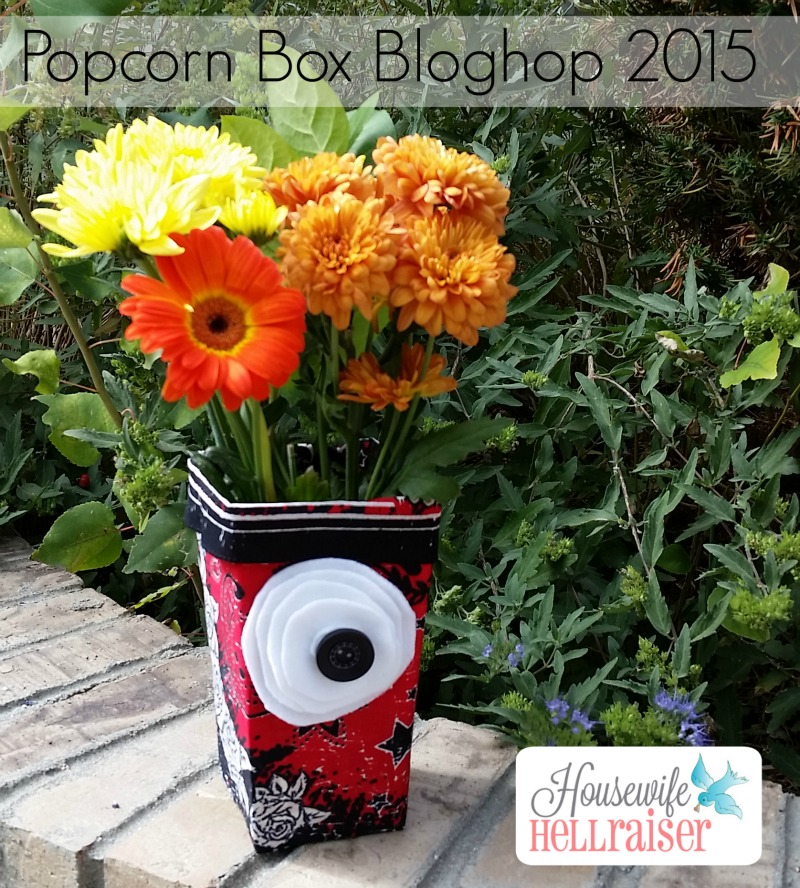 Popcorn Box Bloghop - Flowers in a Popcorn Box!