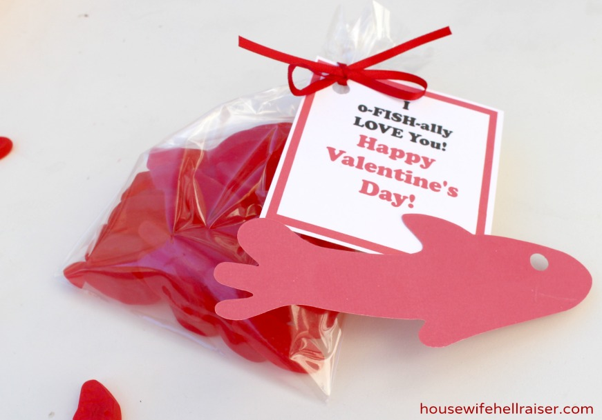 Diy Gummy Fish Valentines With Free Printable Dude That