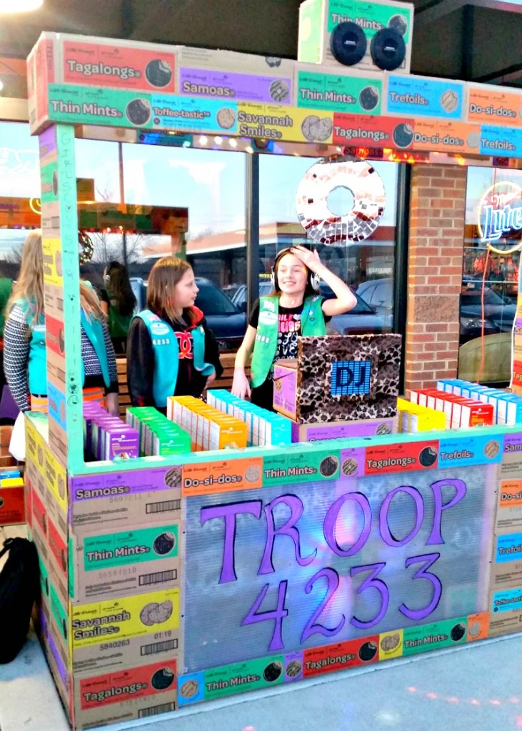 Girl Scout Cookie DJ Booth