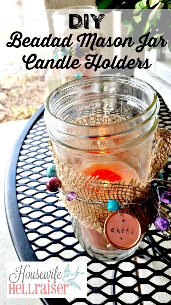 mason jar candle holder pinterest