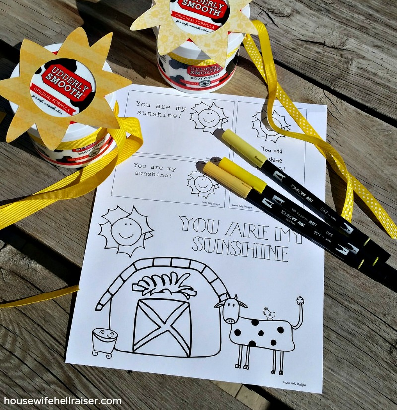 udderly smooth sunshine printable pic