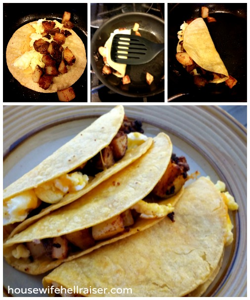 Potato Chorizo Breakfast Tacos - These tacos are a cinch to make! | dudethatsdope.com