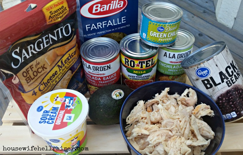 chicken enchilada pasta ingredients