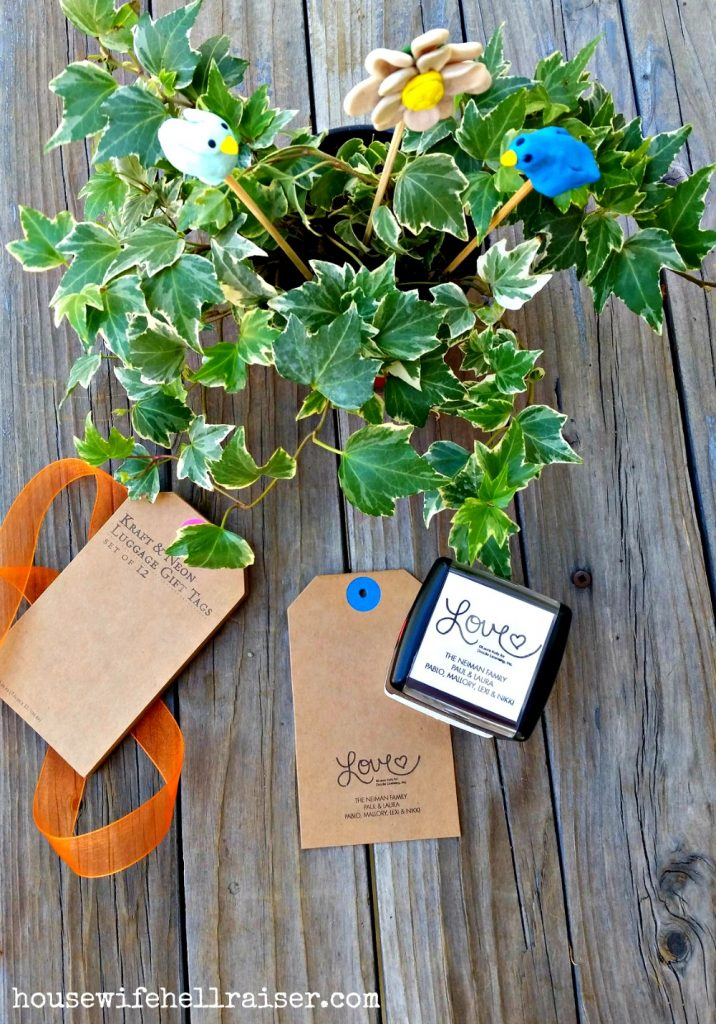 sculpey plant stakes gift tags