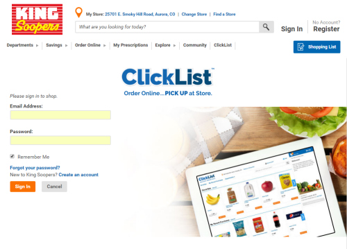 King Soopers ClickList