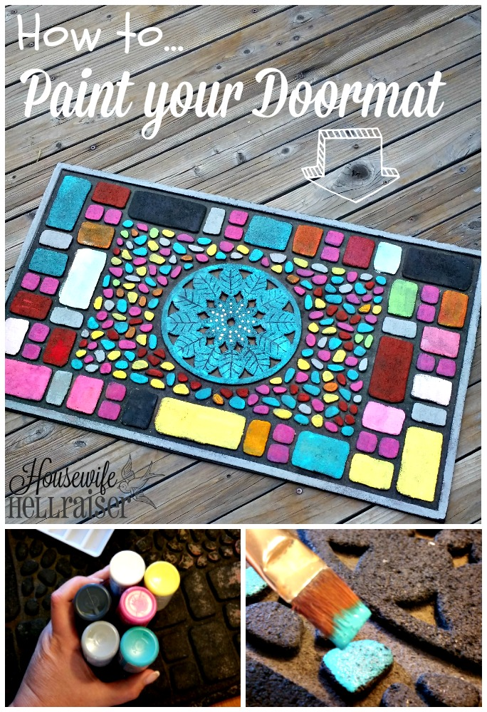 how to paint your doormat