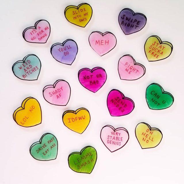Snarky Valentine pins for days! conversationhearts pinstagram pinlover pinlife etsylovehellip