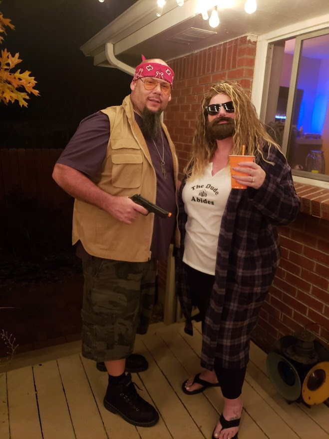 Walter and The Dude from The Big Lebowski cosplay Halloween costumes