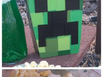 Minecraft popcorn box